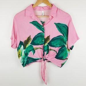American Apparel M/L Pink Short Sleeve